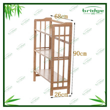3-tier DIY hot sale new design bamboo household corner shelf flower rack holder storage shelf