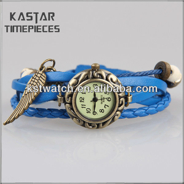Genuine lady leather wrist watches for selling
