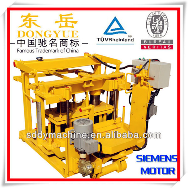QT40-3A moving egg layer manual interlocking brick press