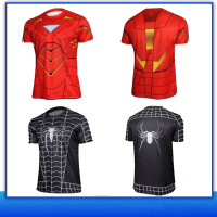 Fashion 2016 3D Printing Marvel Cartoon Printed Superhero T Shirts with Size and Color Customized