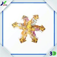 3D PP plastic puzzle/spinning top 3d toy spinning plastic puzzle toy