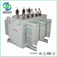 3 phase transformer oil immersed type electric transformer 500 kva