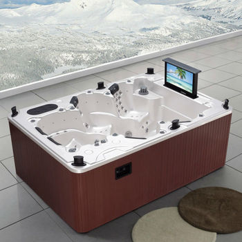 Big whirlpool hot tub for sale spa with tv m 3333 for Japanese tubs for sale