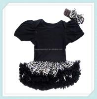 Baby Tutu Dress and Headband Set Girls Tutu Baby Birthday Cake Dress Chiffon Fluffy Pettiskirt Short Sleeve T-shirt For Girls