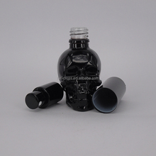 Free sample 30ml black glass cosmetic bottles spray for body lotion