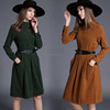 Fashion occident fashion runway Vintage faux suede Dress