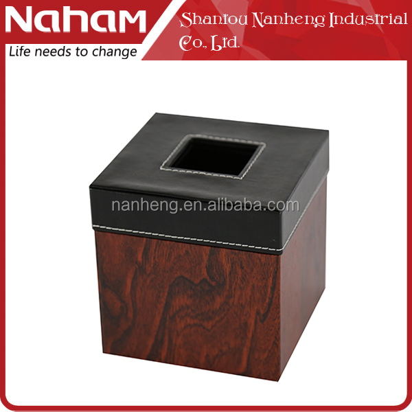 NAHAM new style wooden tissue box cover holders for office