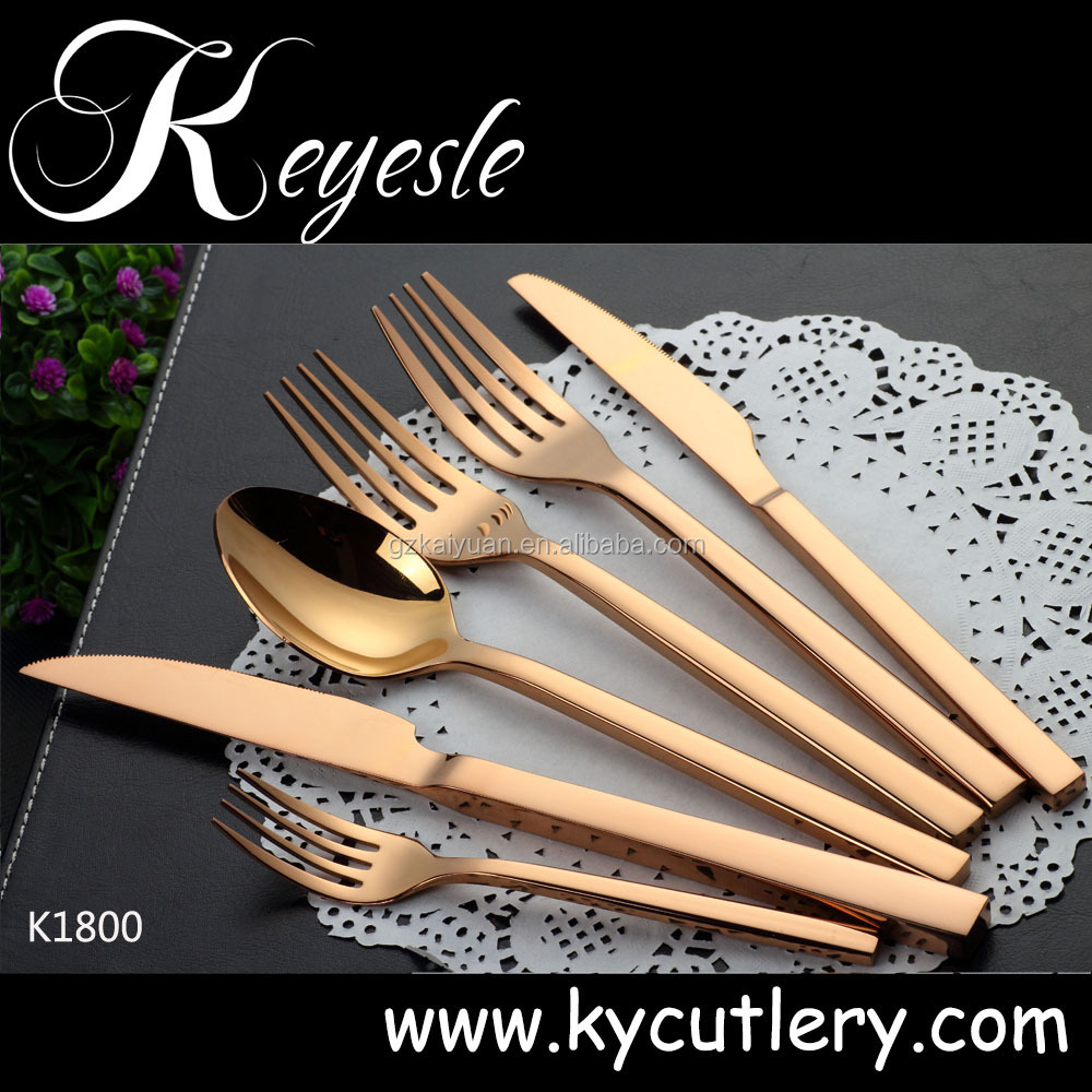 luxury flatware,gold plated flatware,stainless steel cutlery