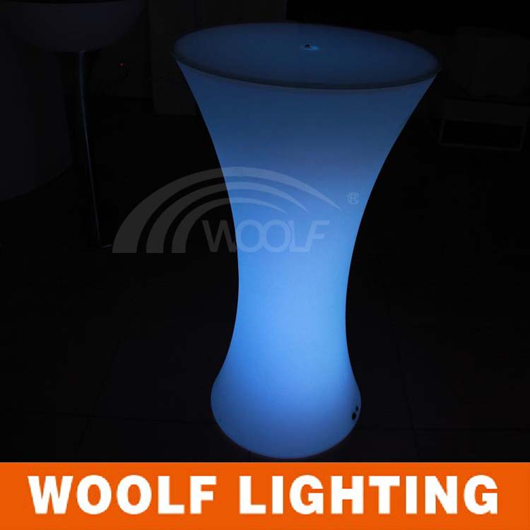 commercial portable led high top cocktail bar table