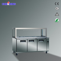 Worktable pizza cooler under counter chiller show case