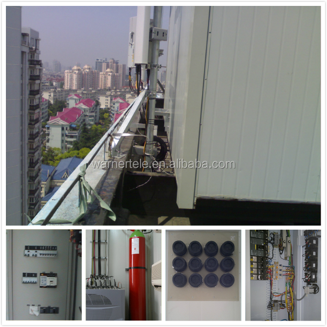 W-TEL Hybird system outdoor equipment telecom Hot dipped galvanized antenna telecom room shelter for 4g base station tower