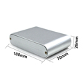 High Quality silver Powder Coating Power Bank Extruded Aluminum Case
