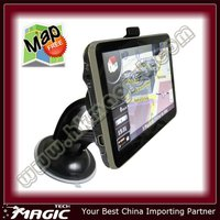 5 inch car gps navigation navigator with Free map