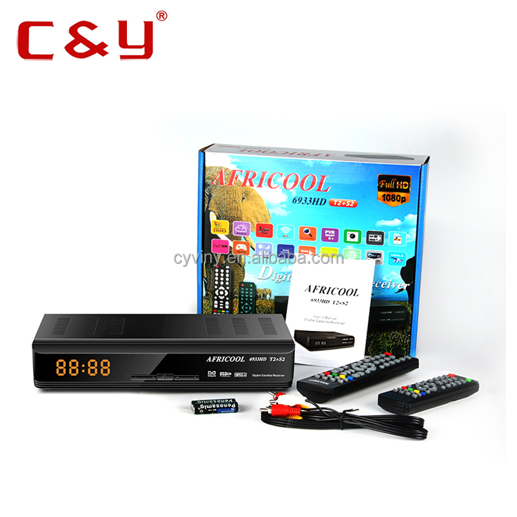 Digital HD WIFI FTA Combo decorder DVB T2 S2 <strong>satellite</strong> tv receiver