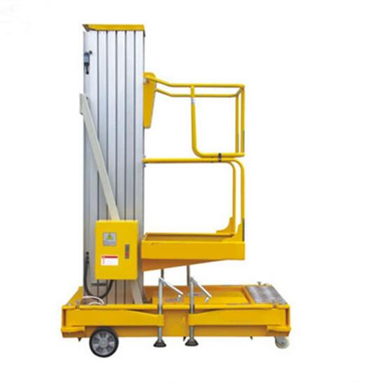 Hydraulic telescopic mast 6m lifting equipment