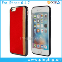 Guangzhou mobile phone shell soft tpu pu sticker case for iphone 6