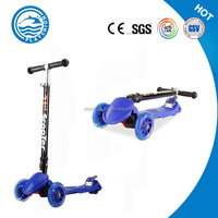 Foldable 3 Wheels Kick Scooter Plastic Body Parts For Adults