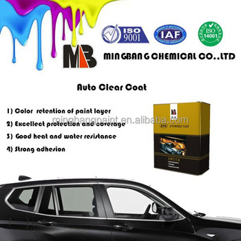 Auto Clear Coat For 1K Car Body Refinish Paint