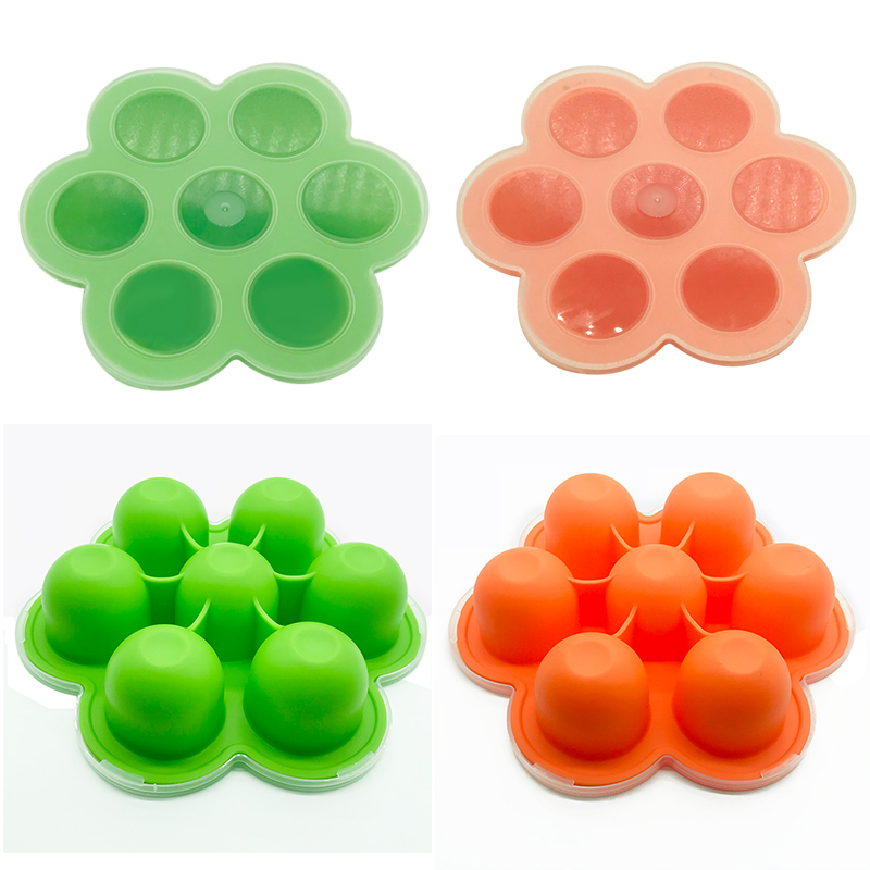 BPA Free Multi-function Silicone baby food storage Containers freezer Trays Wholesale