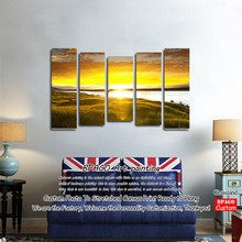 Village scenery landscape oil removable wall painting