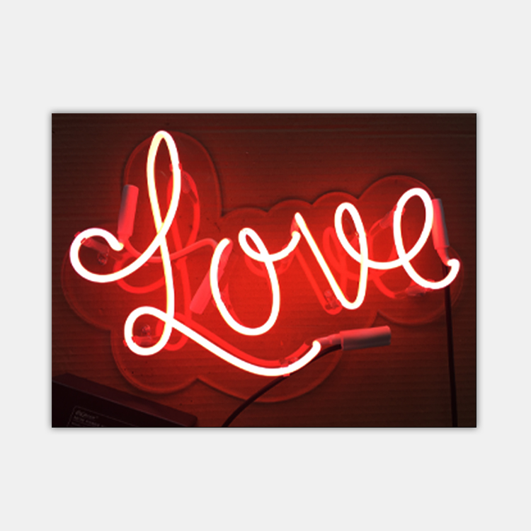 wholesale decorative custom love neon <strong>sign</strong>