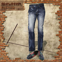 Man Slim Jean in 12oz Black brand name jeans buyer in india