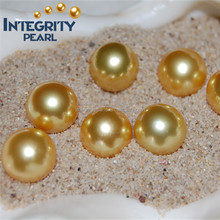 11-12mm dark golden wholesale real south sea pearls