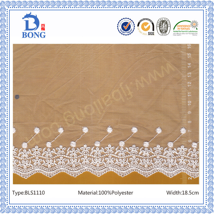 factory supply new sample lace trim embroidery