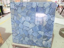 Natural Blue aventurine granite fireplace hearth slab