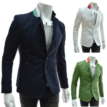 RT HOT!New 2015 Spring and Autumn men's casual Blazers,Fashion high quality slim fit a buckle blazers for men Free shipping PX33