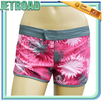 Women 4 way stretch sublimation printed Floral Board Shorts