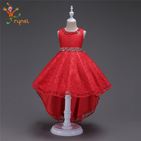 PGCC5345 Wholesale 2018 Wedding Designs Children Kids Girl Party Frock Dress