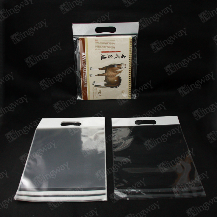 alibaba china manufacture free samples pearl film header opp bag high quality poly bag with self adhesive seal