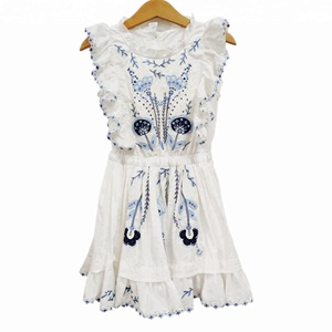 Fashion hand embroidery baby girls alibaba wedding dress
