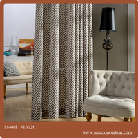100% polyester luxury and high quality printing fabric for blackout curtain