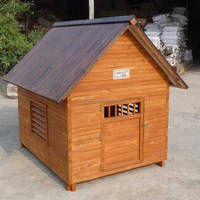 durable solid wood pet carrier large dog house