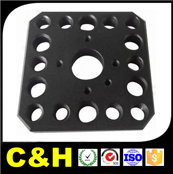 CNC Milled 7075-T6 Aluminum Sanblasted Shiny Black Anodized Parts