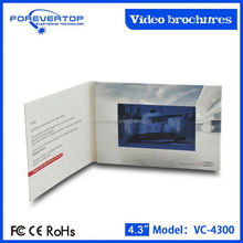 China factory supply competitive price 4.3 inch advertising color video brochures
