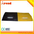 certificated Rubber car stop Black with Yellow Stripes