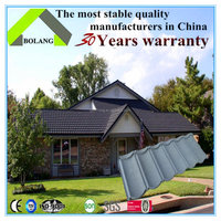BoLang Stone coated metal roof tile designer New colorful and metal stone-coated roof tile / roofing materials name