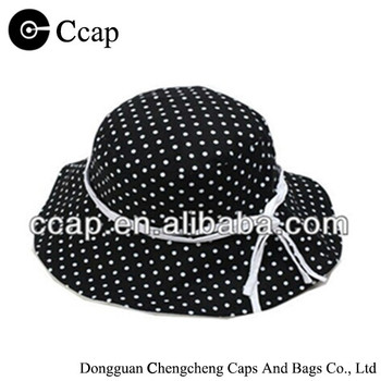 2016 Manufacture lady bucket hat with round dot