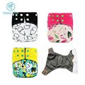 wholesale Happy flute baby washable diaper bamboo charcoal pocket reusable cloth diaper