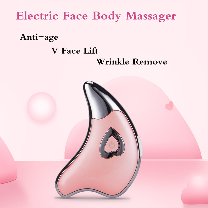 Electric face massager Guasha Tool Electric Scraping Massager Face Neck Massager For Skin Lifting Anti-age V face lift & Wrinkle