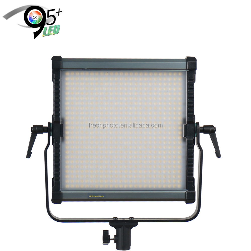 ultra thin digital display 38W CRI95+ aluminum portable led film shooting light with barn doors & softbox