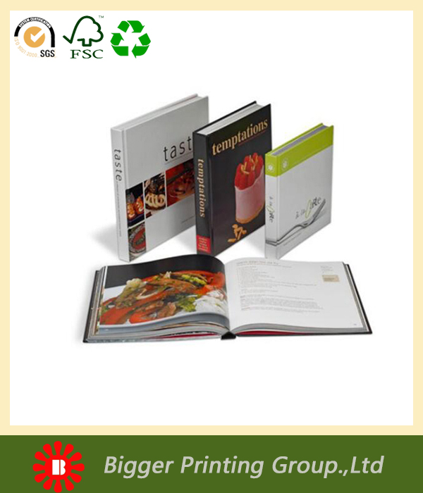 wholesale oem custom printing laminated cookbook, coffee table book in grade quality