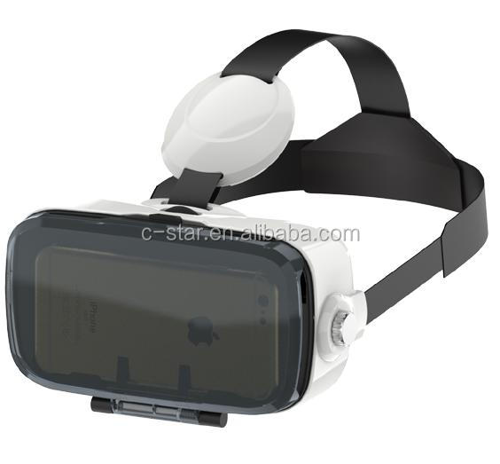 HD new product 2016 vr box 3d vr glasss with adjustable headset for smart phone