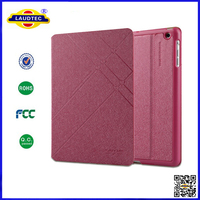 NEW Silk Texture Leather Flip Case Cover for ipad 4-- Laudtec