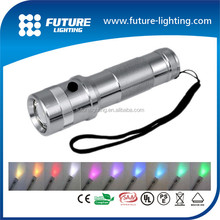 CE RoHS 10 color changeable 3w chinese led flashlight