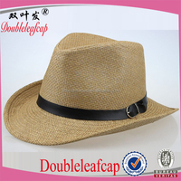 Fashion Design Wholesale Cowboy Straw Hats Promotional High Quality Straw Hats