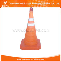 Safety traffic cone shaped lamp shades
